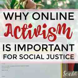 Feel like blogging about feminism is pointless? It's not - online activism is so important for social justice! Click through to read how.