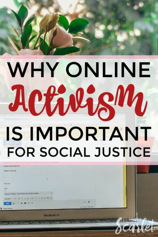 Feel like blogging about feminism is pointless? It's not - online activism is important for social justice! Click through to read how.