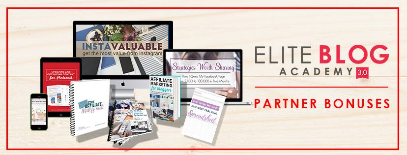 Elite Blog Academy is open for five days only until 11:59pm March 3rd! Check out these awesome bonuses!
