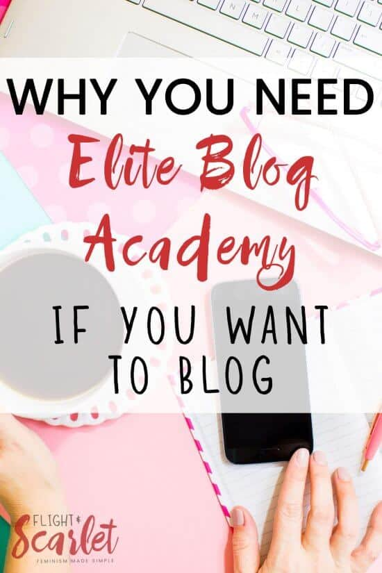I'm so excited to start Elite Blog Academy 3.0 this year! I can't believe I'm going to get personalized feedback and help setting up my blog too — I can barely wait!