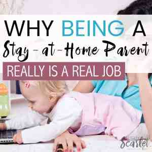 Ever wondered what the real value of being a stay-at-home parent is? Check out this post about why it's a real job and what it means financially. parenting | kids | family | work at home | stay at home | wife | moms | dad | activities | budget | mum