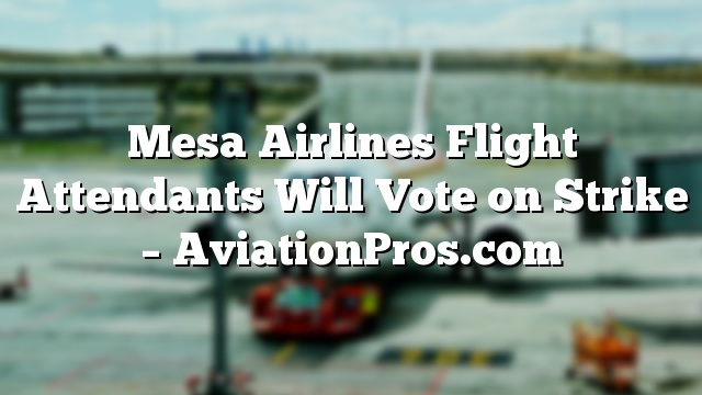 Mesa Airlines Flight Attendants Will Vote on Strike  AviationProscom  Flight Attendant Education