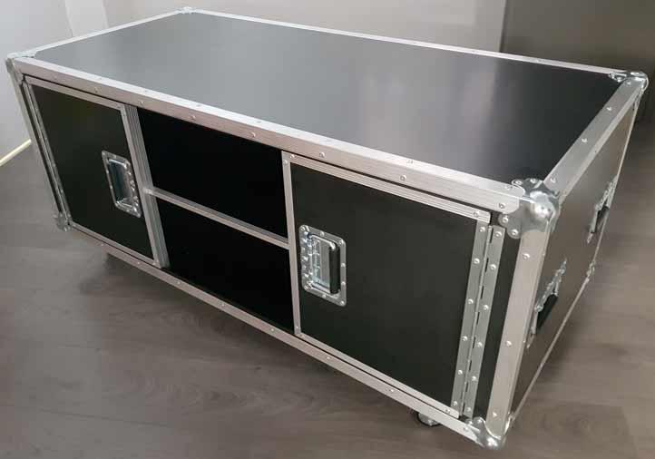 Flight case meuble de tv avec rangement