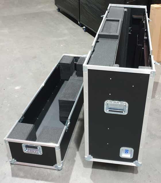 Flight case pour écran samsumg avec lift