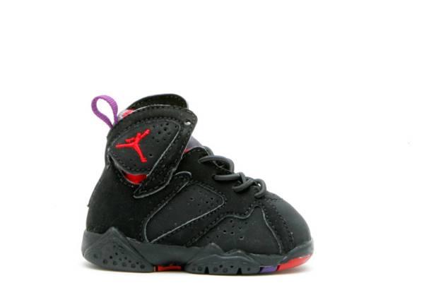 Baby Jordan 7 Retro Black Dark Charcoal-true Red