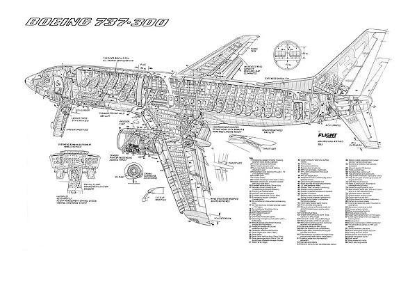 Prints of Boeing 737-300 Cutaway Poster #1569763