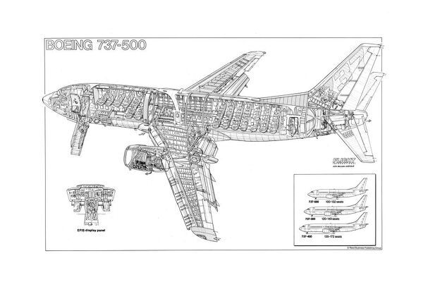 Prints of Boeing 737-500 Cutaway Poster #1569923
