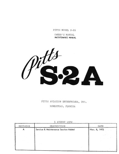Pitts s 2a flight manuals