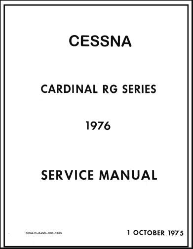 Cessna Maintenance & Parts Manuals