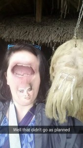 Snapchat Face swap shrunken head Ecuador