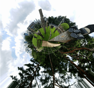 Tiny planet without 360 camera