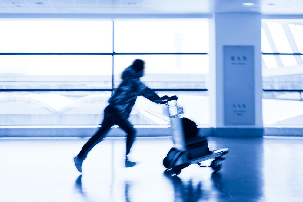 Body - rushing through airport