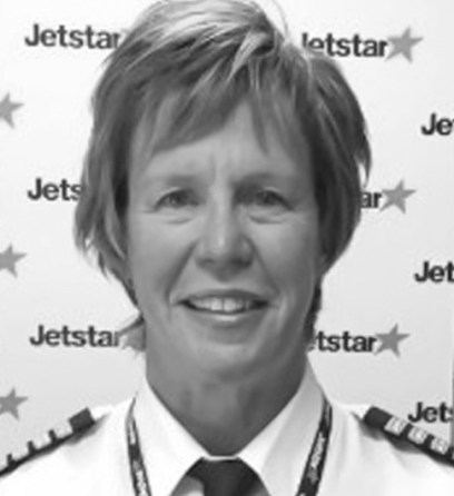 2014 Captain Georgina Sutton—first woman appointed as a chief pilot for a commercial airline (Jetstar) Photo: Courtesy of Georgina Sutton