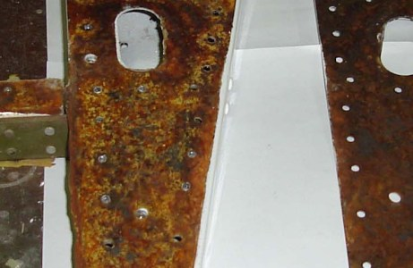 SDR 510020995 | Cessna 340A elevator spar/rib—elevator corroded. Elevator plates P/No 5334150-200 and P/No 5334150-201corroded. Found when elevator skins removed due to hail damage. P/No: 5334150200. TSN: 4172 hours. TSO: 4172 hours.