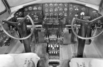 The instrument panel of a Boeing Model 299. Photo: US Air Force