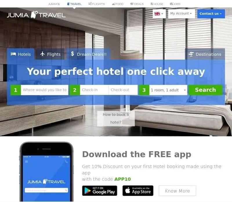 Jumia Travel Website