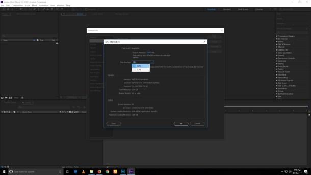 Selecting GPU as Ray Tracing