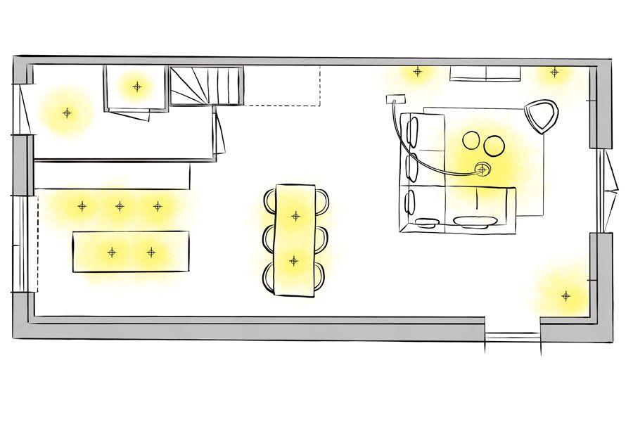 Luxe Woonkamer Meubels Met Lichtplan  Inspiratie