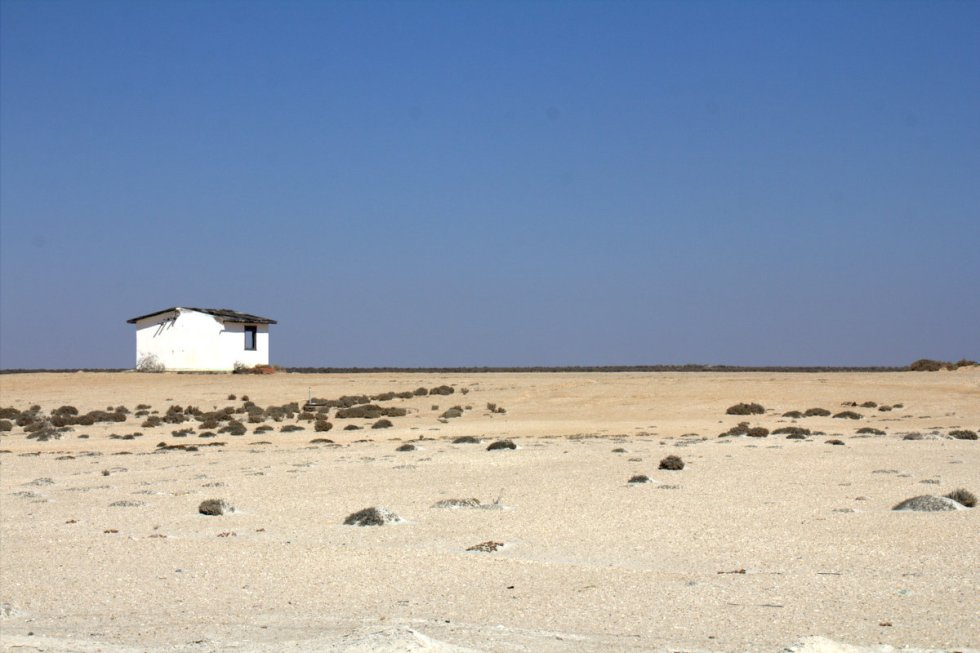 Salt plains in Guerrero Negro