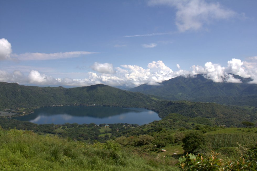 Volcano lake at Santa Maria del Oro