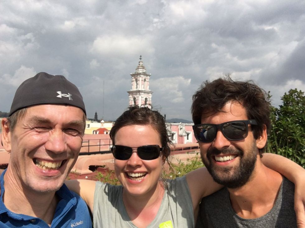 With Tessa and Egbert in Puebla
