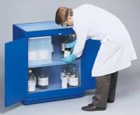 Flinn Acid Cabinet, Wood, Polypropylene, Interior Fully Lined