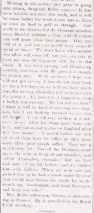 Sgt. Percy BELLIS Part 2 and Douglas TUCK Hawarden. Flintshire Observer 21st Oct 1915 (3)