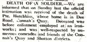 Flintshire Observer 30th November 1917
