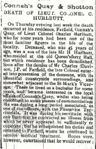 HURLBUTT, Lt. Col. C. 1st Excerpt of Death & Funeral Flintshire Observer 23rd March 1917 3