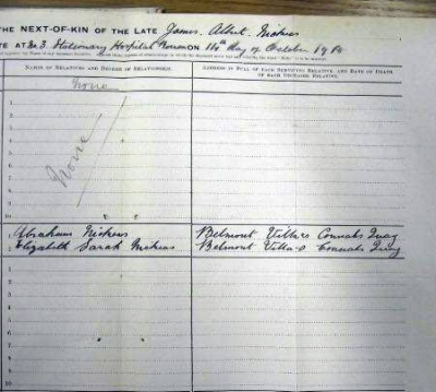 NICKEAS James Albert 1918 Next of Kin (2) - 2