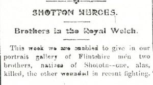 Neil & Walter OWEN (Photo-s) Flintshire Observer 18th Nov 1915 Part 1 - 2