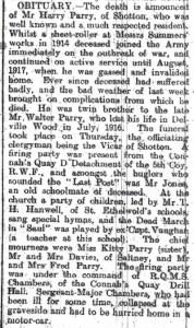 Parry, Harry Obit. Flints. Obs. 2nd February 1922 2