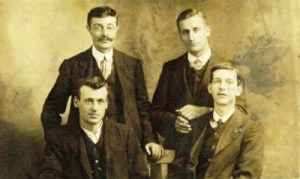 Photograph - Arthur - bottom left, his brother John (Jack) Higgins - top right