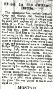 SKIDMORE, Joseph (KING) County Herald 30th June 1916 2