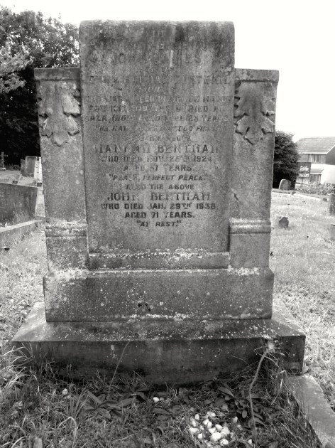 The Bentham family grave.