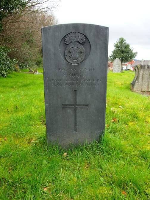 Private Burke's grave