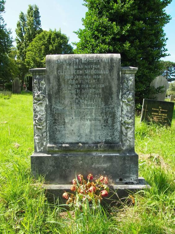 Nellie's grave in Bebington Cemetery