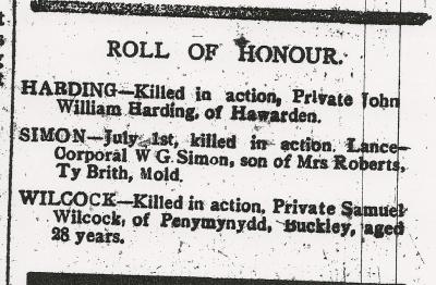HARDING, John William, County Herald 8th Sept 1916 - 2