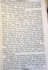 Hawarden Parish Magazine - WHITLEY, Charles