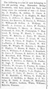 Enlisted men from the Packing Shop - Summers - Flints Obs. 4th Nove 1915 2