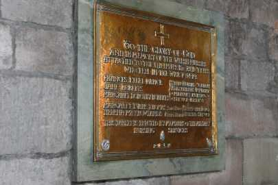 Welsh Nurses Memorial in St Asaph Cathedral