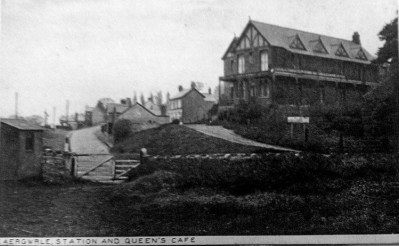 Caergwrle Station and Queens Cafe