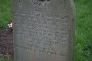 Richard Lewis parents grave