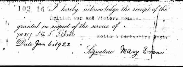 Mary Evans signature