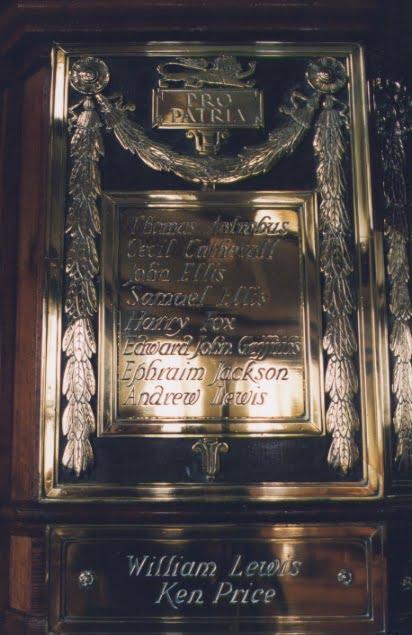 St John's Memorial plaque