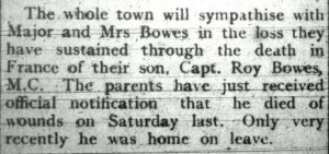 Prestatyn Weekly, 11th August 1917