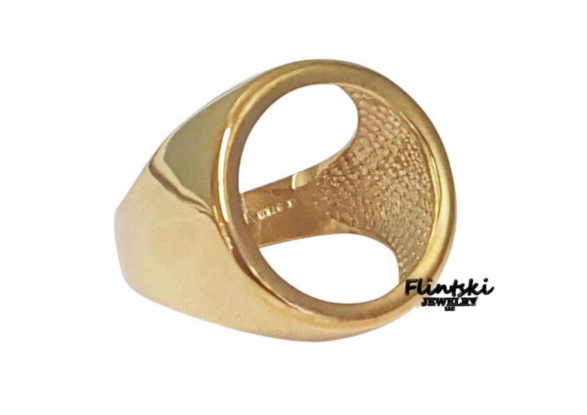Coin Ring Unisex 24k Gold Plated