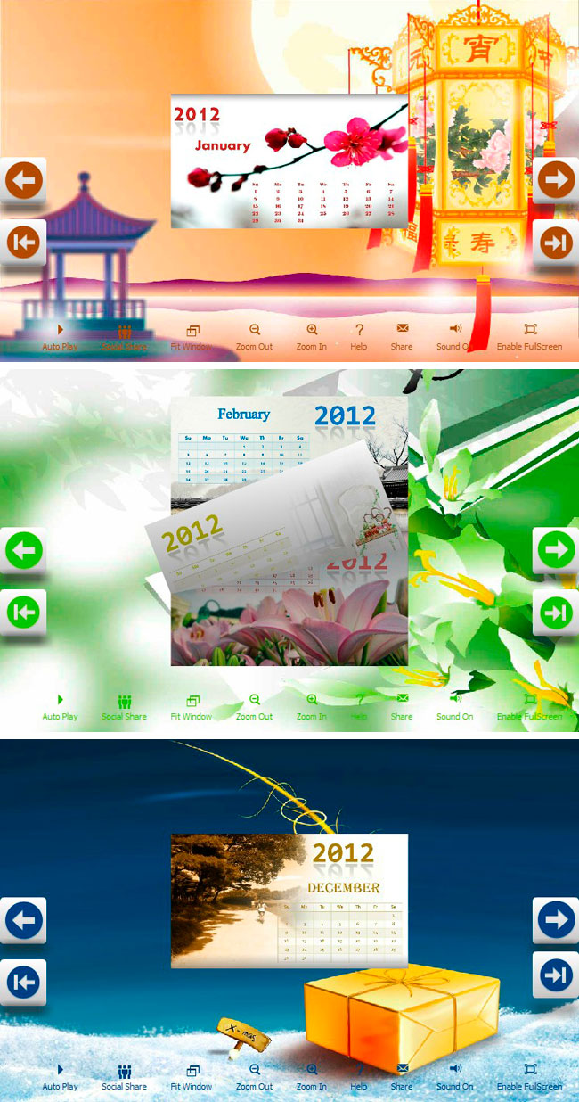 Calendar New Year Designs Greetings Themes To Build