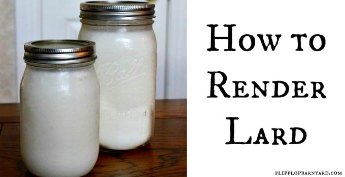 How to render lard. You'll be making the best biscuits and pie crusts you've ever had.