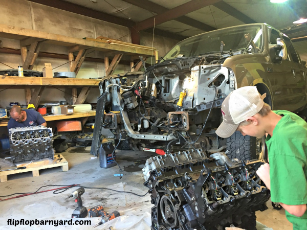 Replacing the engine on a Ford F250 6.0 Diesel